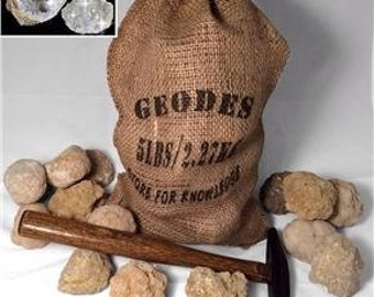 Gift Bag Break Your Own Geodes 5 lbs - 20 Whole Moroccan Geodes 2""