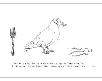 Pigeon beak fork