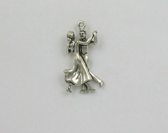 Sterling Silver 3-D Dancing Couple Charm