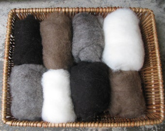 Carded Wool Batts Natural Colours for Needle Felting 100g/3.52oz  NCB1