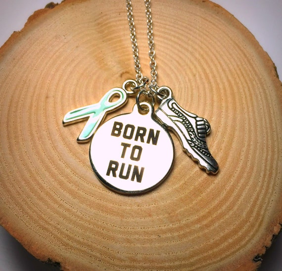 Born To Run Necklace - Fundraiser for Ravin and family, 925 sterling silver charm necklace, cancer sucks, kids get cancer too, screw cancer