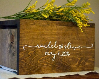 Wedding Card Box, Personalized Wedding Card Box, Money Box, rustic card box, unique card box, wood card box, wedding advice box