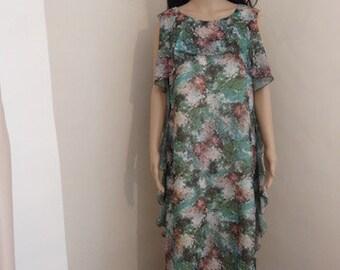 """Vintage 1960's 'Eastex' Dress - Lovely!! Chest 40/42"""", Length 55"""""""