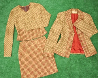 Stunning 3-Piece Patterned Suit 70s