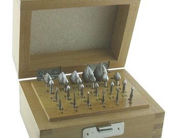 Bud Bur Set 23pcs (1.1 to 11.1mm) High Speed Steel (19.322)