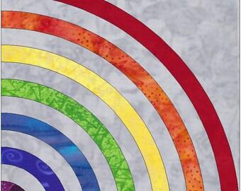 Rainbow Fan Paper Template Quilting Block Pattern PDF