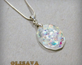Resin Pendant ,  Resin Jewelry , Resin glitter Jewelry