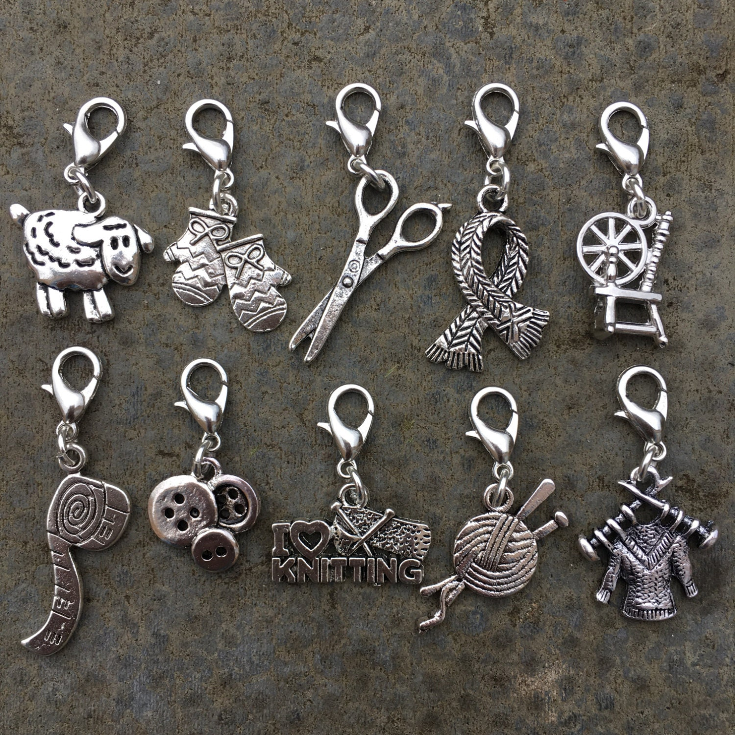 Knitting Markers Etsy : Never not knitting set of stitch markers or progress