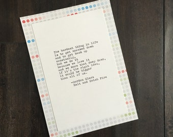 Halt and Catch Fire Quote (Gordon Clark) Quote Typed on Typewriter