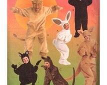 "McCall's Sewing Pattern 8953 Adults Animal Costumes - Lion, Bear, Kangaroo, Leopard, Monkey, Bunny  Size:  Adult 31.5-32.5""  Uncut"