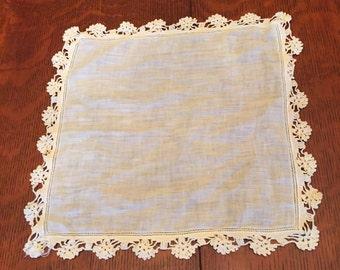 Vintage Linen Handkerchief