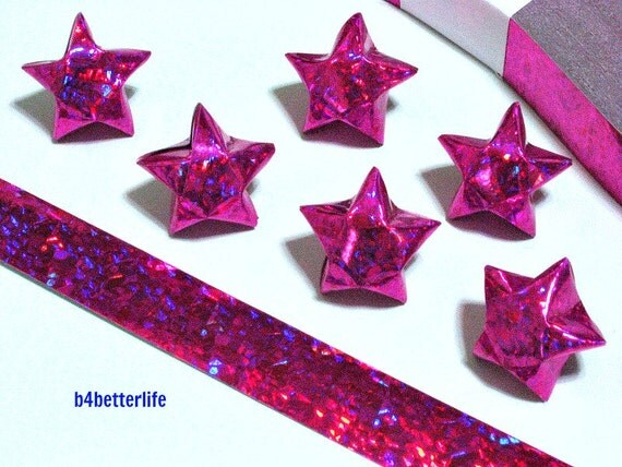 200 strips pink color diy origami lucky stars medium size for Diy lucky stars