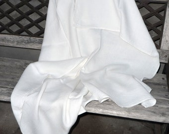 Pure Linen blanket White