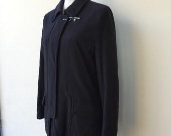 vintage women coat, blue waterproof coat, winter jacket, Fay jacket