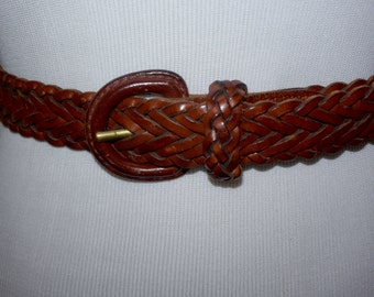 Vintage Brown Woven Belt