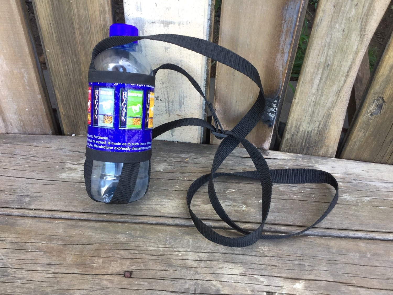 Shack Sack Water Bottle Holder Recycled Horse Feed Sack