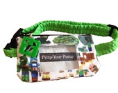 Insulin Pump Pouch Mining Game with vinyl screen & creepy zip charm
