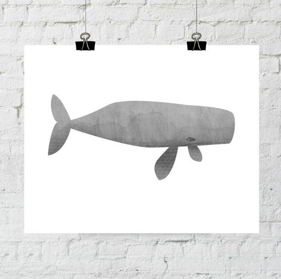 Gray Watercolor, Gray Whale Print, Whale Art, Whale Print, Gray Wall Art, Whale Watercolor Art, Beach Wall Art, Gray Minimalist Art,  Print