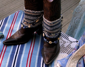 Cowgirl Knit Beaded Boot Cuffs