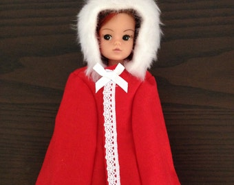 Cosy cloak for Barbie, Sindy and Princess dolls.