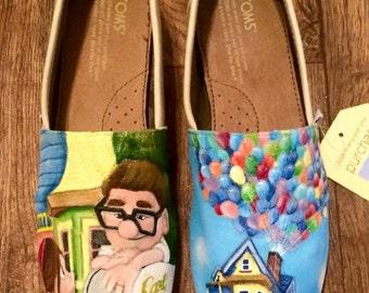 Custom Hand Painted Shoes - Disney Pixar Up