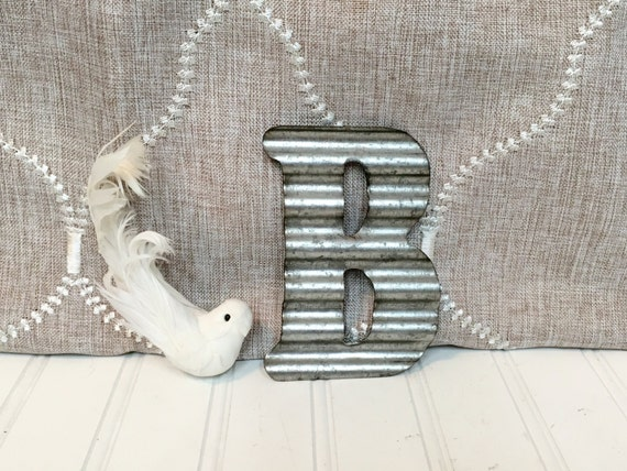 small metal letters letter b 5 galvanized metal by With small metal letters for wall
