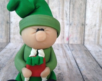 Old Fashioned Elf Ornament, Elf christmas ornament, Santa's Helper, Elf