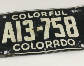 Vintage Colorful Colorado 1954 Mini License Plate Wheaties Promotion