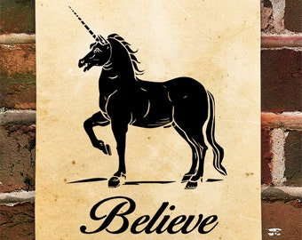 KillerBeeMoto: Limited Release Print of Unicorns and Believe 1 of 50