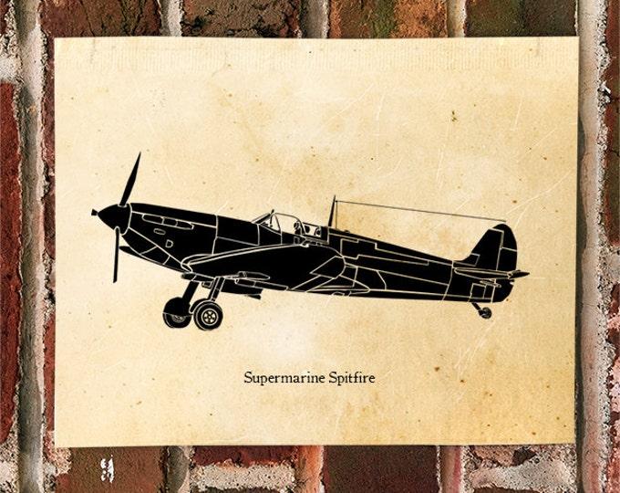 KillerBeeMoto: Limited Print Supermarine Spitfire Aircraft Print 1 of 50