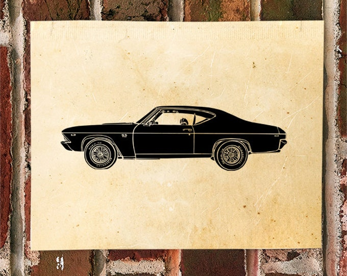 KillerBeeMoto: Limited Print Hot Rod Muscle Car Super Sport SS Automotive Print 1 of 50