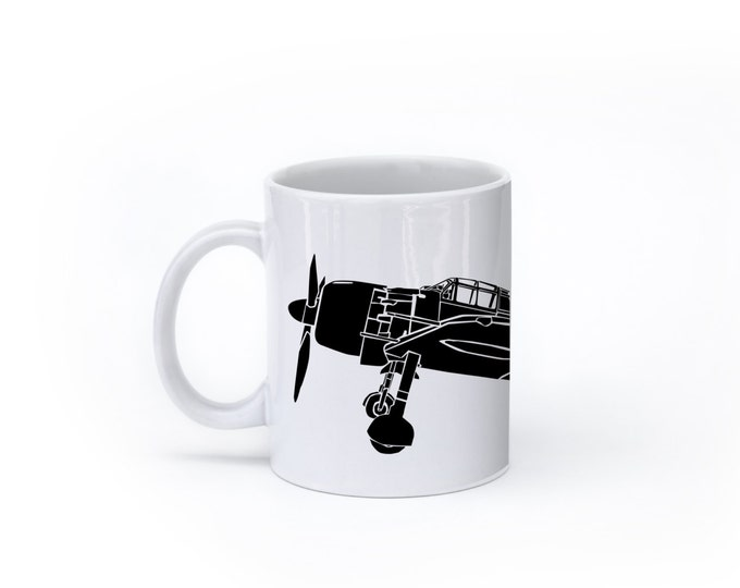KillerBeeMoto: U.S. Made Mitsubishi A6M Japanese Zero Fighter Plane Coffee Mug (White)