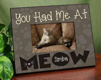 personalized cat picture frame cat frame picture frame meow frame