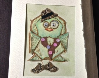Art Card, Artist Trading Card, The Well Dressed Bird