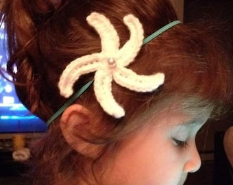Crochet Starfish Headband