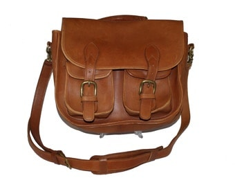 Authentic Robert Cheau Signed Leather Satchel Briefcase School Bag