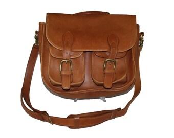 Authentic Robert Cheau Signed Leather Satchel Briefcase School Bag