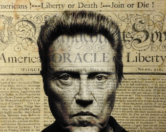 Christopher Walken News Print