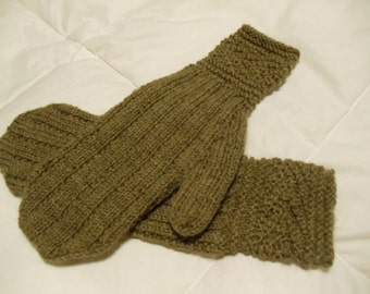Handknit Wool mittens