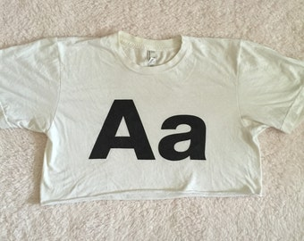 AA - Aa cropped tshirt / small