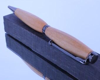 Wood Pen - Writing Pen - Ink Pen - Slimline Style - Twist Pen - Gun Metal Hardware - Ball point Pen - Alder Wood