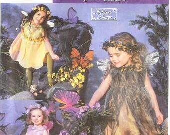 Simplicity 5523 Girl's Fairies Costume Pattern, 3-8