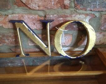 A Pair Of Vintage Shop Sign Letters