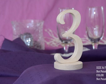 Not Painted SET 1-20, Table Number, Wedding Reception Table, 10 table numbers