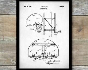 Patent Print, Basketball Goal Basketball, Coach Gift, Basketball Mom, Basketball Decor, Basketball Party, P358