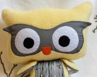 Very soft owl plush, comforting owl, owl pillow toy, big eyes owl, plush fleece, plush little young children