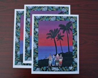 SUNSET TOURISTS  * limited edition - Art Print 300g/m offset paper *
