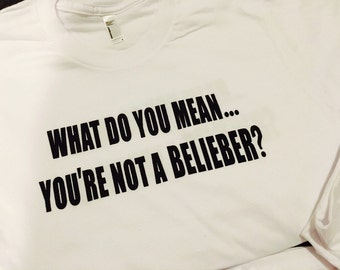 Size down one size! SMALL Justin Bieber Tee
