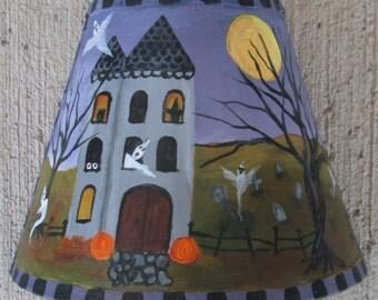 Halloween painting~*~Halloween night light~*~GHOSTS~*~witches~*~FOLK art~*~Halloween decor