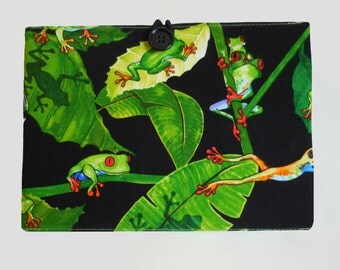iPad Air 2 Case Stand, iPad Mini Cover, iPad Cover, Kindle Fire Case, Kindle Cover, Kindle Paperwhite Case Stand, Tropical Frogs